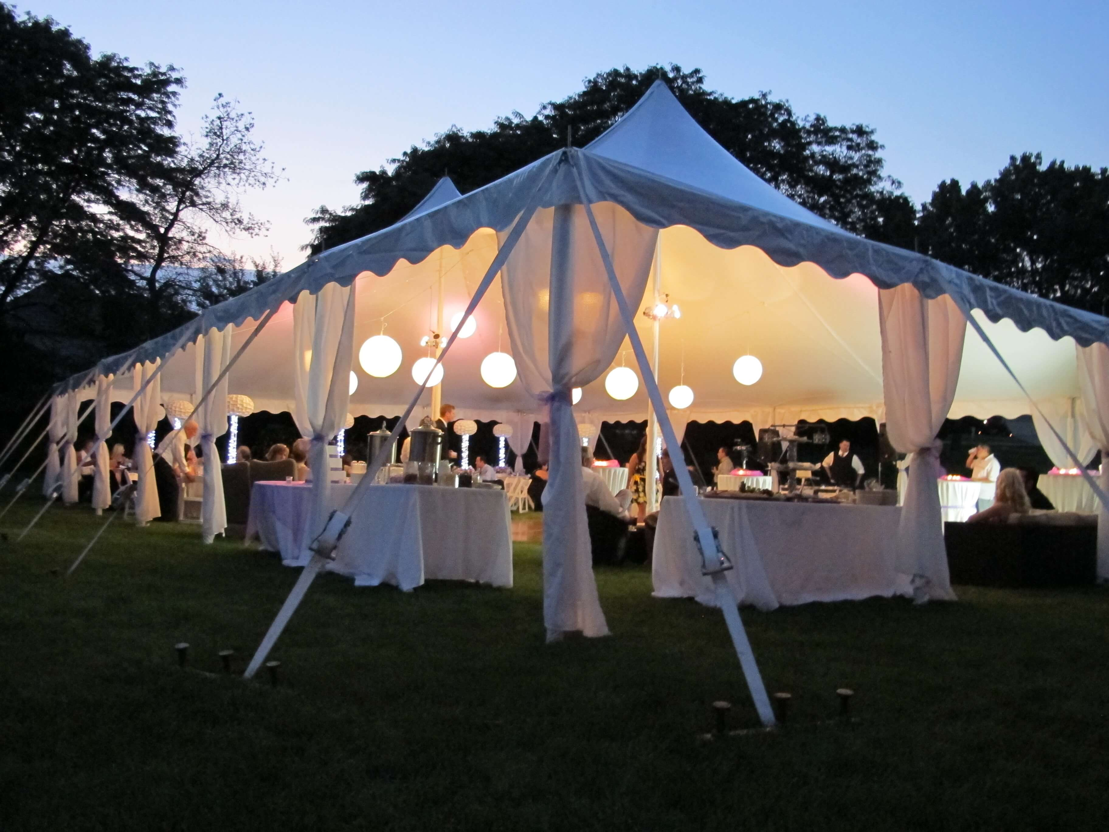 Outdoor Tent Lighting in Forest Park